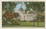 """South View and Entrance to State Capitol, Montgomery, Ala."""