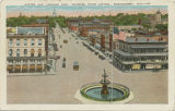 """Dexter Ave. Looking East, Showing State Capitol, Montgomery, Ala."""