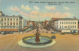 """Dexter Avenue, Looking East, Showing State Capitol, Montgomery, Ala."""