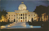 """Alabama State Capitol at Night, Montgomery, Alabama."""