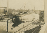 "Launching of the cargo ship ""Selma City"" at Chickasaw, Alabama."