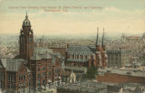 """General View, showing Court House, St. Paul's Church, and Terminal, Birmingham, Ala."""