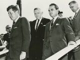 President John F. Kennedy and George Wallace at Redstone Arsenal in Huntsville, Alabama.