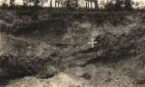 """Chert pit near Anniston, Alabama, Calhoun County, where cave-in of embankment caused the..."