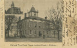 """Old and New Court House, Jackson County, Alabama."""