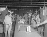 Conveyor belts in operation at the Welsh Company of the South in Union Springs, Alabama.