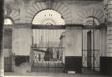Wrought iron gates at the Old Southern Market on Royal Street in Mobile, Alabama.