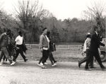 Selma to Montgomery marchers along U.S. Highway 80.