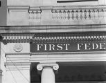 Detail on the building of the First Federal Savings and Loan Association of Montgomery at 36...