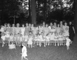 Children's party, possibly hosted by Mrs. H. V. Kelley in Montgomery, Alabama.