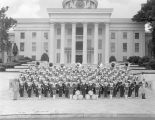 Sidney Lanier High School marching band on the steps in front of the State Capitol in Montgomery,...