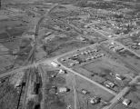Aerial view of low-income housing in Linden, Alabama.