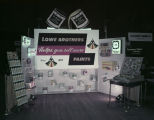 Lowe Brothers paint booth at the 1957 Alabama Retail Hardware Association convention at Garrett...
