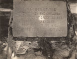 Marker at Fort Mims in Baldwin County, Alabama, honoring the victims of the massacre of August 30,...
