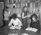 Students in the library at the Massey-Draughon Business College at 415 Montgomery Street in...