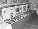 Mayrose meat products display, probably at an exhibition in Montgomery, Alabama.