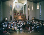 Choir performing during Choir Day at Memorial Presbyterian Church at 3424 South Court Street in...