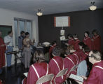Choir members rehearsing before Choir Day at Memorial Presbyterian Church at 3424 South Court...