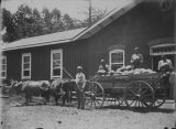 Copy photograph of a wagon of watermelons at Mount Vernon Hospital in Mobile County, Alabama.