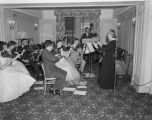 String ensemble playing at the Whitley Hotel in Montgomery, Alabama, probably during an event...