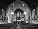 Christmas decorations inside the Church of the Ascension at 315 Clanton Avenue in Montgomery,...