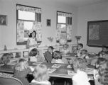 Children in a Sunday school class at the Church of the Holy Comforter at 2911 Woodley Road in...