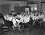 Sales meeting for employees of the Coca-Cola Bottling Company in Montgomery, Alabama.