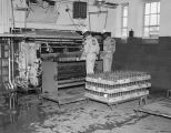 Interior of the Coca-Cola Bottling Company on the southeast corner of North Perry and East...