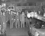 Truck showcase at Grimes Motor Company, on the southwest corner of Bell and Goldthwaite Streets in...