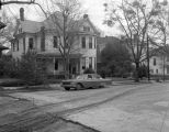 Houses on the east side of South Court Street in Montgomery, Alabama, on the block between the...