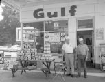 Gulf Lite lighter fluid promotion at a Gulf service station in Montgomery, Alabama.
