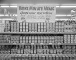 """Heinz Minute Meals"" canned goods display at the Cloverland Piggly Wiggly in Montgomery,..."