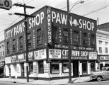 City Pawn Shop at the intersection of Monroe and North Court Streets in Montgomery, Alabama.