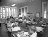 Students in a classroom at Montgomery Academy, a private school at 706 South Perry Street in...