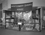 Montgomery Divers Association booth at Garrett Coliseum during the 1960 South Alabama Fair in...