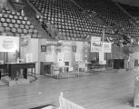Booth for the Montgomery Fair sewing department at Garrett Coliseum during the 1959 South Alabama...