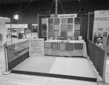 Morton Sales Company booth at Garrett Coliseum during the 1960 South Alabama Fair in Montgomery,...