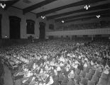 Children in the auditorium at Forest Avenue School in Montgomery, Alabama, for a concert sponsored...