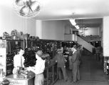 Merchandise and sales counter at the Parts Service Company at 412 Bibb Street in Montgomery,...