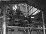 Equipment inside the plant of the Pennsylvania Salt Manufacturing Company, possibly in Montgomery,...