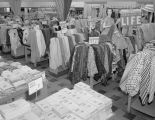 Fabric in the piece goods department of the J. C. Penney Company at 27 Court Square in downtown...
