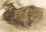 Brick wall built by slaves in 1854 to enclose a six-acre apple orchard in Camden, Alabama.