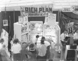 Rich Plan booth at Garrett Coliseum during the 1960 South Alabama Fair in Montgomery, Alabama.
