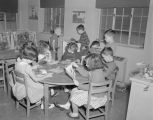 Students reading in a classroom at St. John's School at 113 Madison Avenue in Montgomery, Alabama,