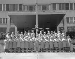 Pink Lady volunteers standing in front of St. Margaret's Hospital at 834 Adams Avenue in...