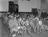 African American children at a Christmas party at the Salvation Army Citadel at 308 North Lawrence...