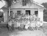 Children in front of the West End Salvation Army on Eugene Street in Montgomery, Alabama.
