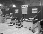 Savage Arms Corporation booth at the 1957 Alabama Retail Hardware Association convention at...