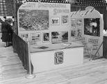 Scott Photographic Services booth at Garrett Coliseum during the 1956 South Alabama Fair in...