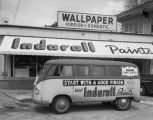 Indurall Paints van parked in front of the store at 464 South Court Street in Montgomery, Alabama.